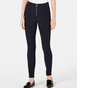 BeBop Juniors' Ribbed Zip Ponté-Knit Pants